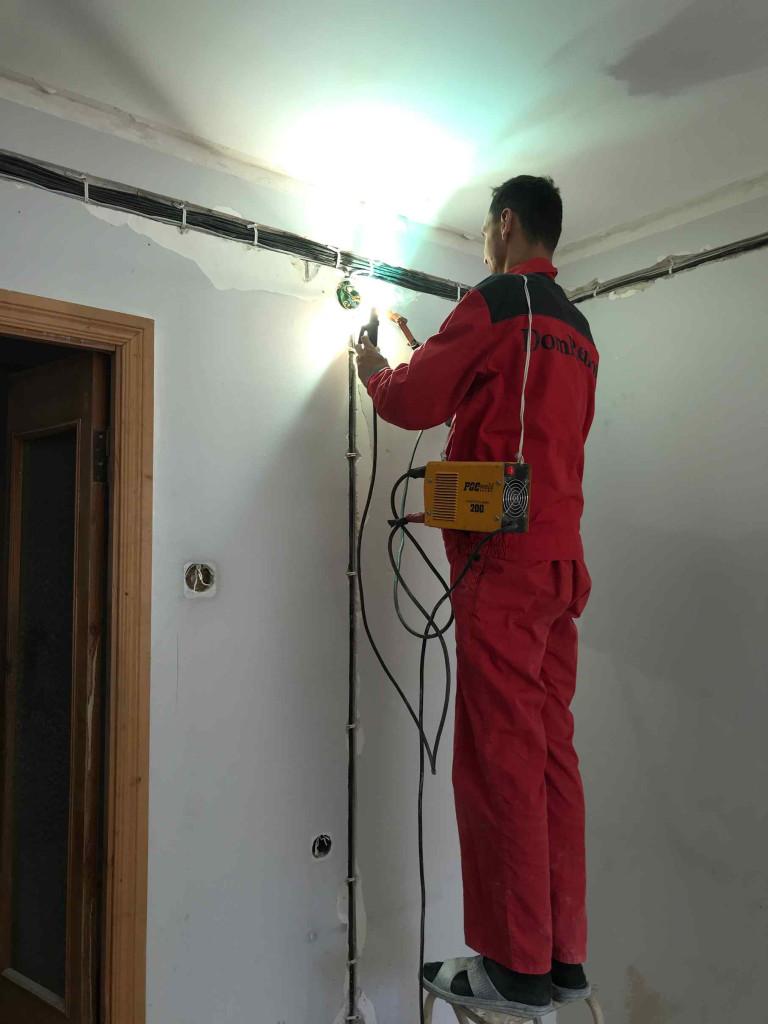 Монтаж электропроводки и освещения - разделение на линии
