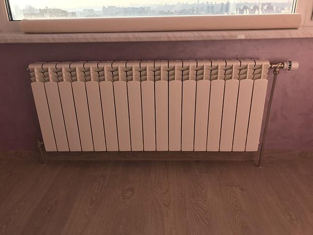Установка радиаторов отопления - крепления