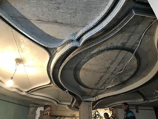 Декоративное оформление поверхности потолка - этапы монтажа