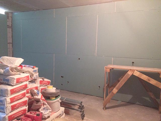 Монтаж стен из гипсокартона - возведение